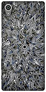 The Racoon Lean printed designer hard back mobile phone case cover for Sony Xperia X. (Mandala)