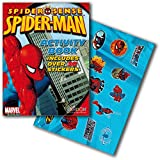 Marvel Spiderman Coloring and Activity Book Set with Stickers (2 Books)