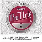 D\'Addario Bowed Corde seule (Do) pour violoncelle D\'Addario Pro-Arte, manche 4/4, tension Medium