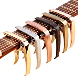 Guitar Capo, OMEDI Capos for Acoustic and Electric Guitars Guitar Accessories Trigger Capo for Ukulele Banjo Mandolin capos (Color: Rose gold)