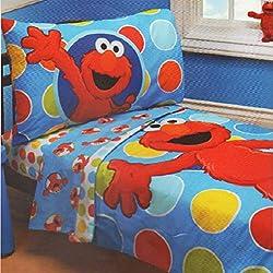 Sesame Street Elmo 4 - Piece Toddler Bed Set