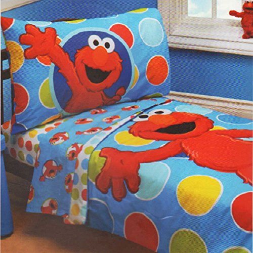 Sesame Street Elmo 4 - Piece Toddler Bed Set