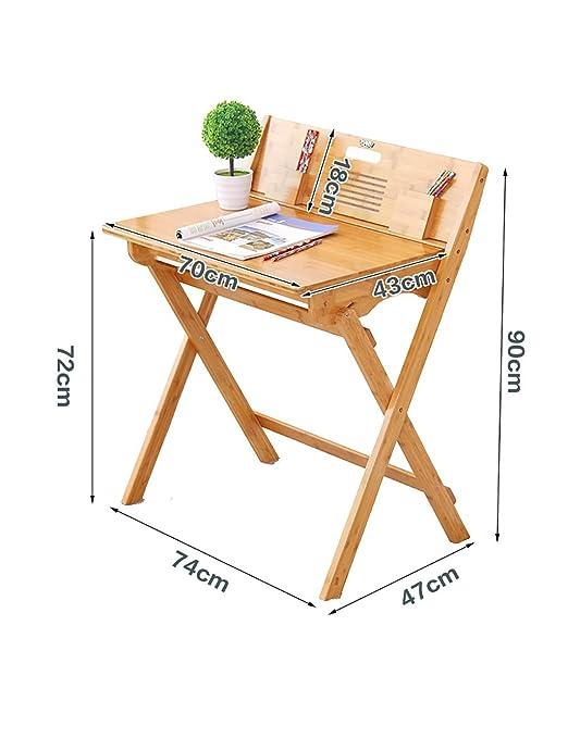 FPF Mesas plegables Mesa moderna de ocio simple Mesa de aprendizaje Mesa portátil plegable de mesa Material de bambú Fácil de mover y llevar