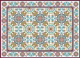 Oriental 60x80cm Mat Tile Rug Carpet PVC Vinyl Floor Kitchen Salon Decoration TM-214