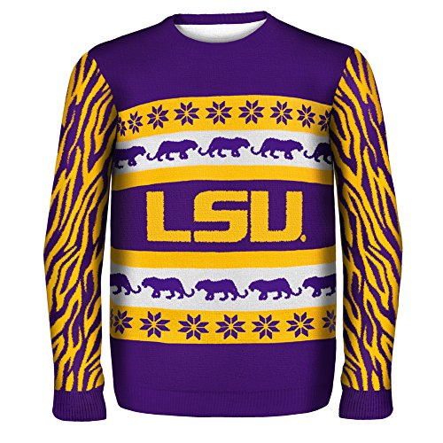 Lsu Tigers Ugly Christmas Sweater - L - Purple