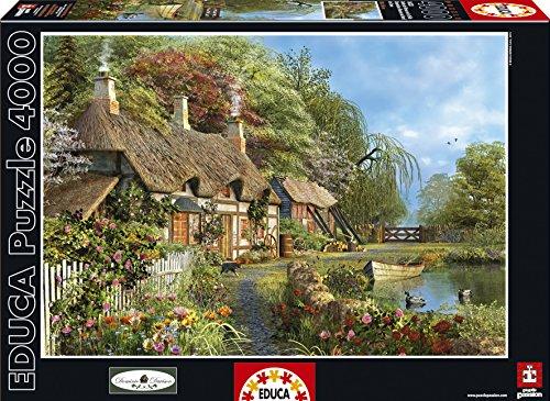 Educa 16323 - Puzzle - Blumenhaus Am Ufer, 4000-Teilig