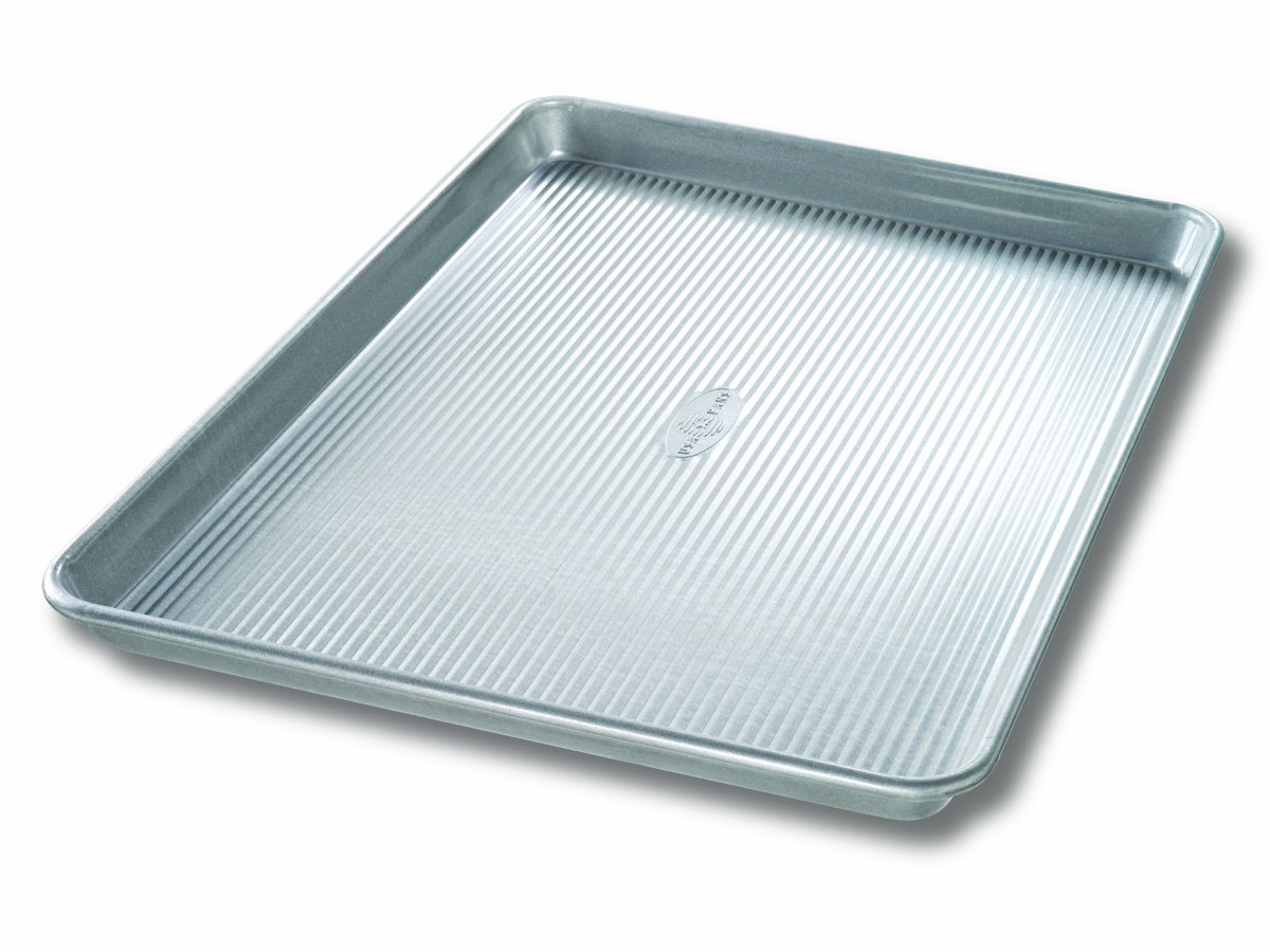 The USA pan bakeware sheet pan XL, nonstick warp resistant baking pan, made from aluminized steel