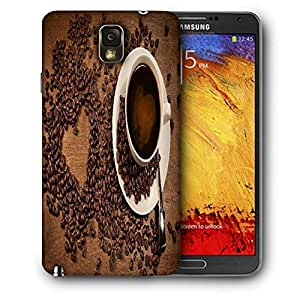 Snoogg Coffee Heart Printed Protective Phone Back Case Cover For Samsung Galaxy NOTE 3 / Note III