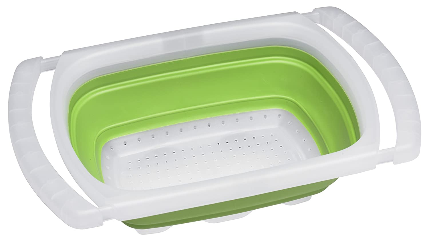 Progressive International Collapsible Over The Sink Colander, Green