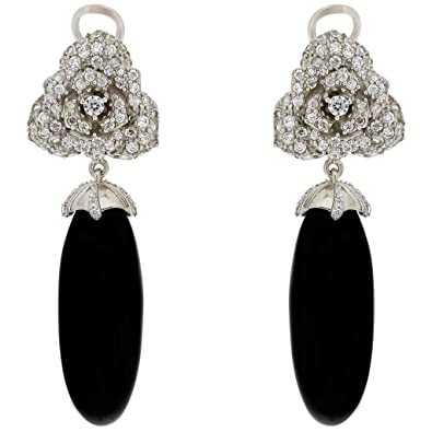 "SARAH KERN ""ALEXANDRIA"" Earrings, Zirconia, 925 Sterling Silver, rhodium plated, COSMOPOLITAN Collection, SW00116"