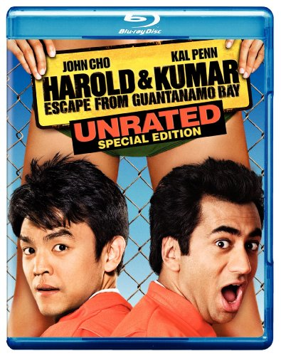 Cover art for  Harold & Kumar Escape From Guantanamo Bay (Unrated Special Edition) [Blu-ray]