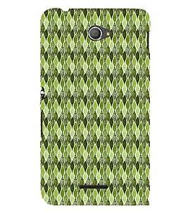 Green Leafs Autumn 3D Hard Polycarbonate Designer Back Case Cover for Sony Xperia E4 Dual :: Sony Xperia E4