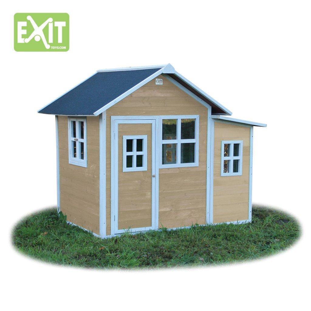 EXIT Loft 150 natur / Spielhäuschen mit Tür + 5 Fenstern / Material: Zedernholz / Maße: 118 x 171 x 160 cm / 77,5 kg / für Kinder ab 3 günstig bestellen