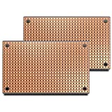 ST1 (Two-Pack) StripBoard, Uncut Strips, 1 Sided PCB, Size 1 = 50 x 80mm (1.97 x 3.15in)