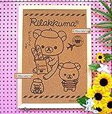 San -X Rilakkuma Bear Cork Bulletin Board Wall Decor Picture Art Wood Framed 17 x 12