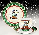 Kaffeeservice Waldweihnacht 18tlg. für 6 Personen weiß mit...
