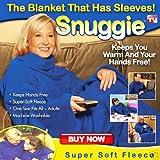 SNUGGLE WRAP FLEECE BLANKET WITH SLEEVE REGULAR SIZE - BLUE