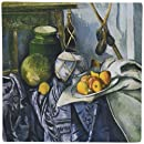 3Drose LLC 8 X 8 X 0.25 Inches Mouse Pad, Still Life with a Ginger Jar and Eggplants by Paul Cezanne (Mp_127317_1)