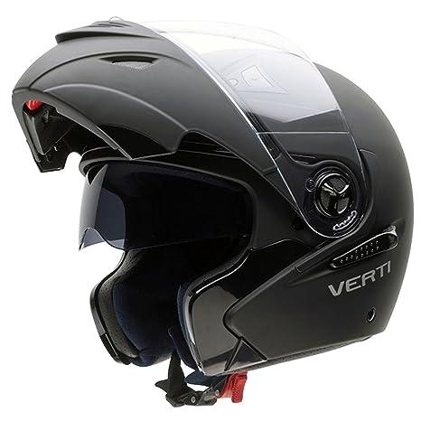 NZI 150207G093 Verti SOB Casque de Moto, Noir Mat, Taille : XXXL
