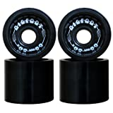 Bigfoot Concave Longboard Wheels Boardwalks, Black, 68mm (Color: black, Tamaño: 68mm)