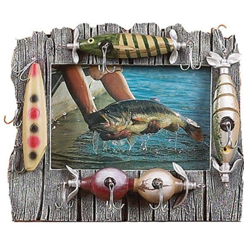 Rivers Edge Fishing Lure Picture Frame - Holds