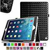 Fintie Apple iPad Air Folio Case - Slim Fit PU Leather Smart Cover with Auto Sleep / Wake Feature for iPad Air (iPad 5th Generation) 2013 Model, Knot Black