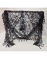 Lace Hollow Hook Floral Women Long Scarf Wrap Ladies Shawl Girls Large Silk Scarves
