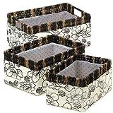 Floral Print Nesting Basket Set with Polka Dot Lining