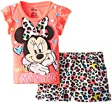 Disney Baby-Girls Infant Minnie Mouse Short Set, Pink, 24 Months