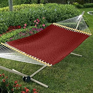 Quilted-Weave Hammock & Stand