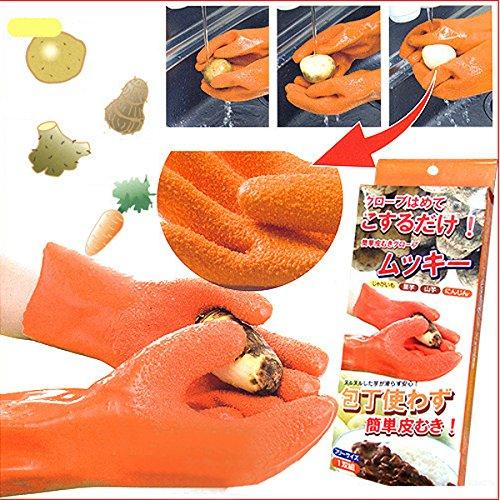 Vale® Waterproof Tater Mitaines Potato Gants Peeling Peeling Vegetable Gants de nettoyage Gants de légumes Fruit de pommes de terre Gants Peeler