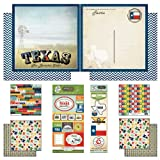 Scrapbook Customs Themed Paper and Stickers Scrapbook Kit, Texas Vintage