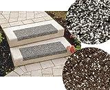 Floordirekt Stufenmatten - Sicherheitsstufenmatten für Außentreppen - grau-melliert