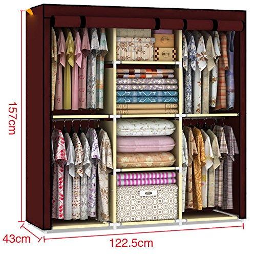 youzee-home-portable-fabric-cover-cloth-hanger-rack-shelf-wardrobe-closet-foldable-organizer-cabinet
