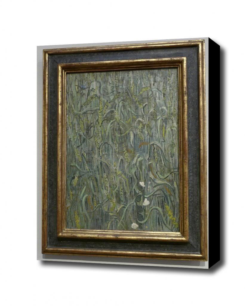 Korenaren Vincent van Gogh 1890 Canvas Art Print, with 1.5 inch Deep Frame BLACK edge; 14 X 16