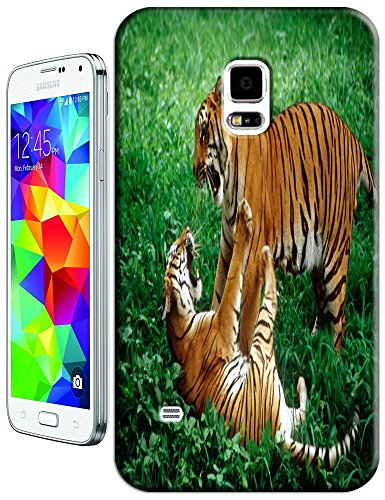 Lovely Power Tigers Cases Covers Phone Hard Back Cases Beautiful Nice Cute Animal Hot Selling Cell Phone Cases For Samsung Galaxy S5 I9600 # 21