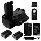 Battery Grip Bundle f/Sony Alpha SLT-A77, A77II, A99II: Includes VG-C77AM Replacement Grip, 2-Pk NP-FM500H Replacement Long-Life Batteries, Charger, UltraPro Accessory Bundle