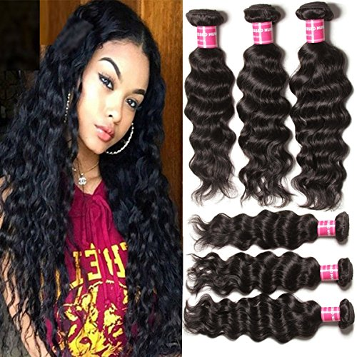 Beauty Forever Hair Brazilian Natural Water Wave Virgin Hair Weave 3 Bundles 100% Unprocessed Human Hair Extensions Natural Color 95-100g/pc (8 10 12) (Natural Wave Hair compare prices)