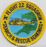 No 22 Squadron A Flight Royal Air Force RAF Search and Rescue Embroidered Badge Patch
