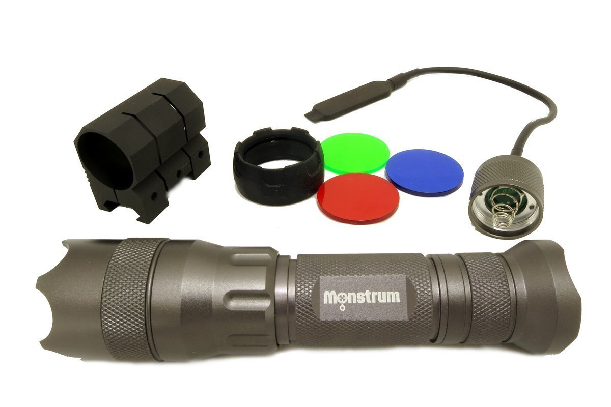 Monstrum F22MC Tactical LED Flashlight with Strobe