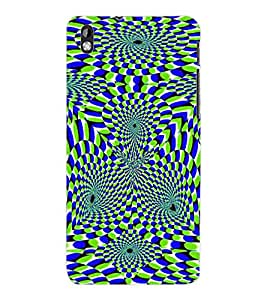 ColourCraft Illusive Design Back Case Cover for HTC DESIRE 816