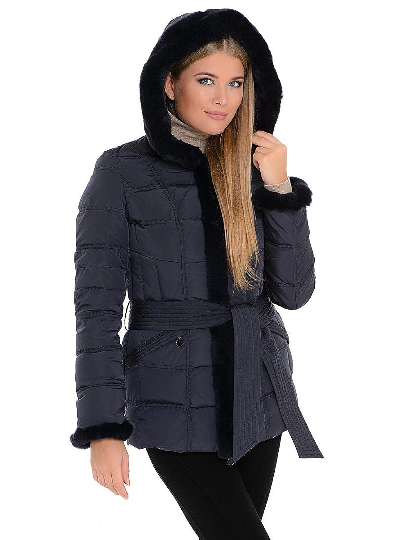 "SID-B127 Damen Daunenjacke ""SNOWIMAGE"" mit Echtfellkapuze blau jetzt bestellen"
