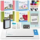 Silhouette Cameo II Touch Screen with Mega Bundle - Includes Vinyl Kit, Heat Transfer Kit, Rhinestone Kit, Fabric Kit, Sketch Pens, 2 Blades, Fabric Blade, Glass Etching Cream, and More!