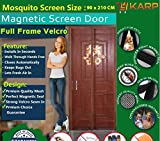 KARP Premium Quality Magnetic Screen Door Full Frame Velcro - Keep Bugs Out Lets Fresh Air In. No More Mosquitos or Flying Insects - Children and Pet Friendly, Instant Bug Mesh with Top-to-Bottom Seal, Snaps Shut Like Magic for a Hands-Free Bug-Proof Curtain - (3.5 Foot Length X 7 Foot Height) (Blue Color), Package weight - 645 Gram