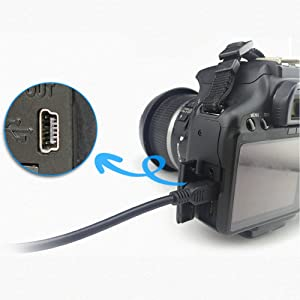 USB Interface Charging Data Transfer Cable for Canon PowerShot Digital Cameras & Camcorders