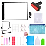 A4 Diamond Painting LED Light Pad Board, Ultrathin & Dimmable USB Power Light Pad Kit, 32 Piece Tool Kit,Perfect for Full Drill & Partial Drill 5D Diamond Painting with Aluminium Alloy Stand and Clips (Color: 32 Piece)