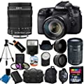 Canon EOS 70D 20.2 MP Digital SLR Camera with Dual Pixel CMOS AF Full HD 1080p Video with Movie and Canon EF-S 18-135mm f/3.5-5.6 IS STM Lens with Canon EF-S 55-250mm STM f/4-5.6 IS Image Stabilizer Telephoto Zoom Lens + 58mm 2x Professional Lens + High D
