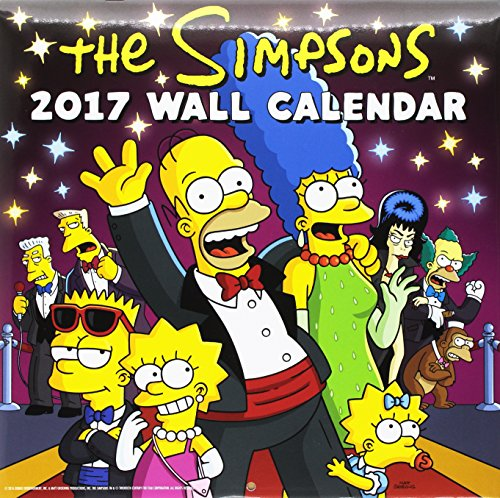 Simpsons Official 2017 Square Calendar