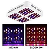 Morsen 1200W LED Grow Light Dimmable Full Spectrum Grow Light Reflector for Indoor Plants (Color: White, Tamaño: 1200W)