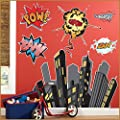 Birthday Express - Superhero Comics Giant Wall Decals